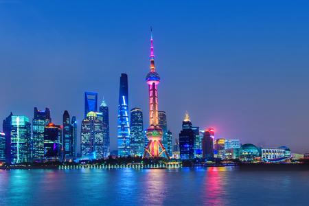 Architectural landscape of Lujiazui, the Bund, Shanghai