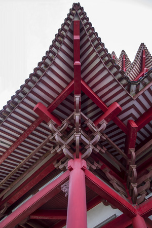 Looking up at the ancient Chinese Architecture