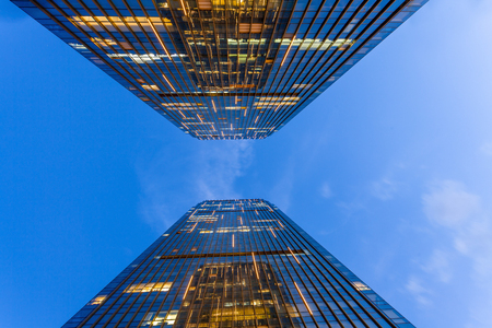 Urban scenery, financial center, commercial center, high-rise building Stock Photo