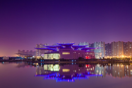 Urban architectural landscape in Wuxi