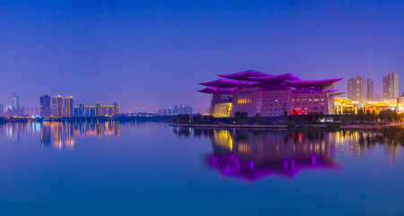 Urban architectural landscape in Wuxi