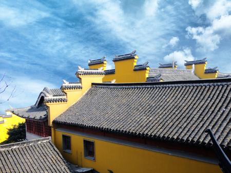 Nanjing Jiming Temple Landscape Architecture Landscape Stock Photo