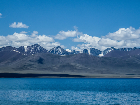The natural landscape of the glacier plateau in Nam Co, Tibet