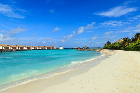 The charming scenery of Maldives Stock Photo