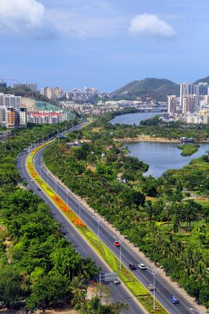 Green city scenery in Sanya