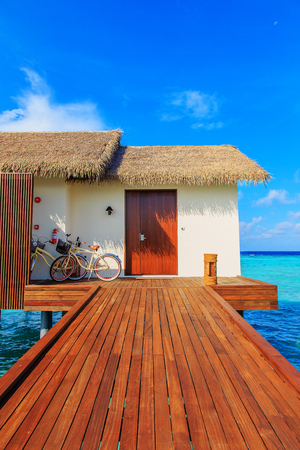 A house built on the sea in Maldives