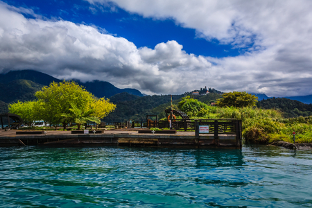 Taiwan Nantou Riyuetan Pool Фото со стока