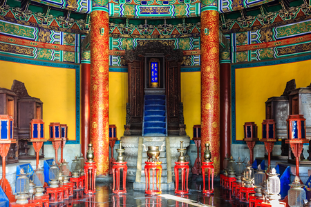 Temple of Heaven Park Echo Wall (Huiyin bi) and Imperial Vault of Heaven (Huang Qiong Yu)