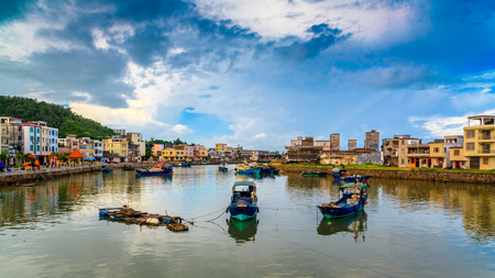 Fishing port in Dongping, Yangjiang Stock Photo