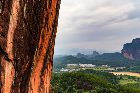 Shaoguan Mount Danxia cliff plank road