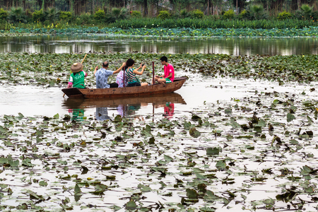 Lotus water Township in Panyu, Guangzhou Stock Photo