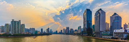 The two sides of the Pearl River in Guangzhou Editorial