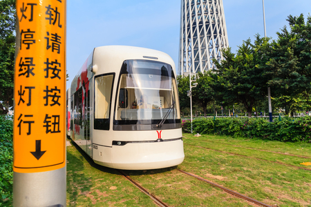 light railway at guangzhou Editorial