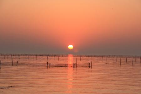 Hongze lake, sunset Stock Photo