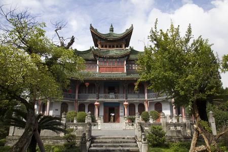 Ancient building in Hantai, Shaanxi, Hanzhoung Editorial
