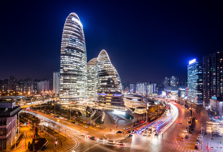 Wangjing SOHO Stock Photo