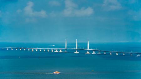 Hong Kong–Zhuhai–Macau Bridge Stock Photo