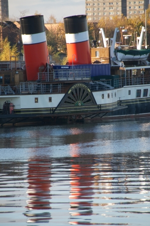 waverley: In WInter the Waverley retruns to docks in Glasgow for its annual repairs and maintenance