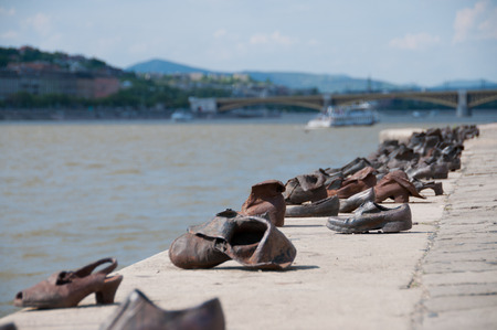persecution: The Shoes on the Danube River in Budapest