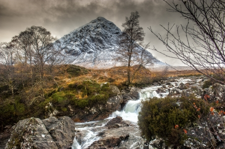 glencoe: The mountain is Buachaille Etive Mor which rises above Rannoch Moor to a height of 1022m It is located in  Glencoe in the Lochaber region of Scotlands Highlands