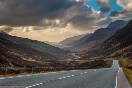 Descending Glen Docherty Towards Kinlochewe from the East, Scottish Highlands Stock Photo - 31544280