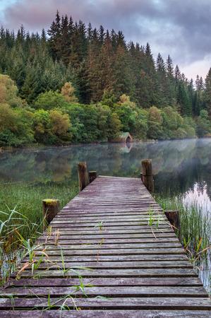 ard: Mist on Loch Ard, Scotland