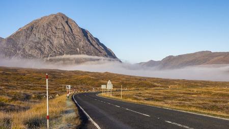glencoe: The Road to Glencoe, Scottish Highlands Stock Photo