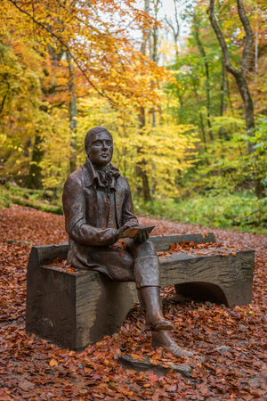 burns: Rabbie Burns in Autumn at the Birks of Aberfeldy