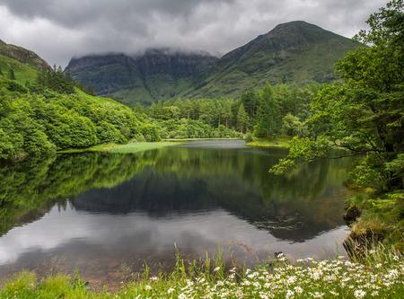 glencoe: Reflections in Torren Lochan in Glencoe, Scotland