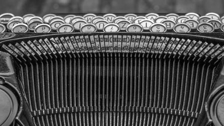 An old typewriter in a street market