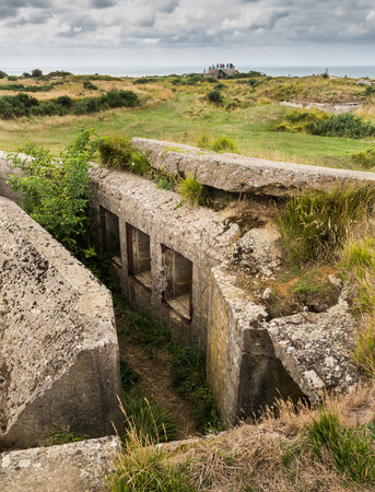 hoc: Remains of the German defences that were part of the Atlantic Wall in 1944 at Pointe du Hoc in Normandy