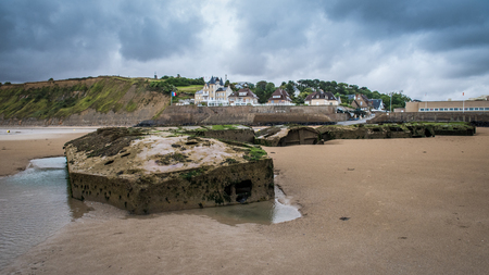Arromanches in Normandy, Gold Beach, was the location for Mulberry B one of the temporary harbour used during the D-Day landings