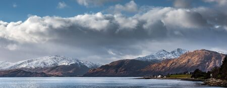 The hills on the Ardgour Penninsula in their winter colours as viewed from near Ballachulisch