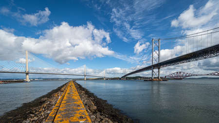 The three Forth Bridges are an impressive sight as they across the Firth of Forth, as well as providing road and rail transport links between Edinburgh and Fife