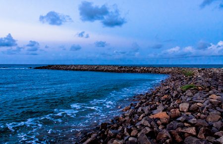 rn: Breakwater in Beach in Natal RN, tourism, nature, environment