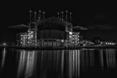 oceanario: Dreams ship (B&W) Editorial