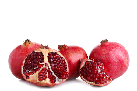 Ripe pomegranates isolated on a white background, cut out Reklamní fotografie