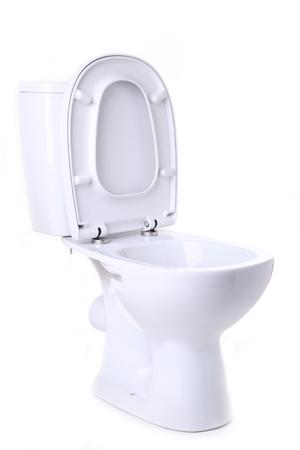 Cuvette de toilette isolé sur fond blanc Banque d'images