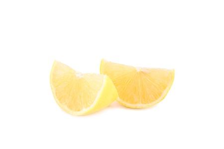 Lemon isolated on white background. Fresh tropical fruit. Stock Photo