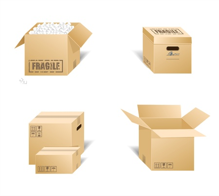 illustration of cardboard boxes  Stock Vector - 17188537