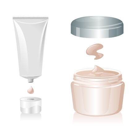 Cream tube isolated on white background,