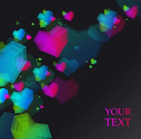 hearts card Stock Vector - 17188530