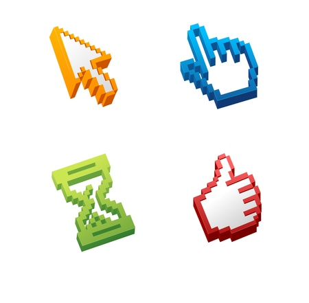 Vector computer cursors Illustration
