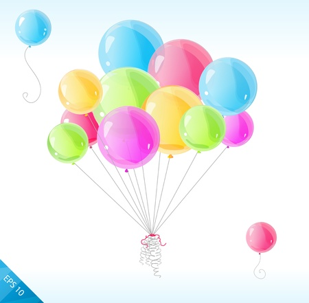 Vector bright balloons isolated on white Stock Vector - 17290283