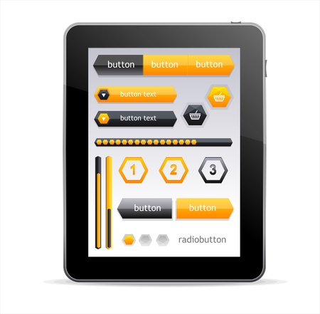 net book: Vector GUI elements for Tablet