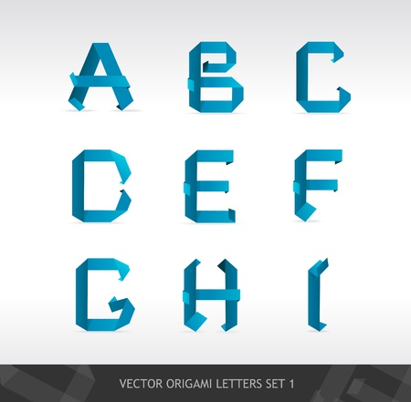 Vector Paper letters origami Stock Vector - 17290264