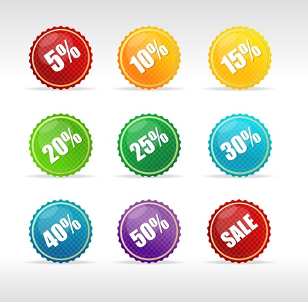 Vector sale labels set rainbow
