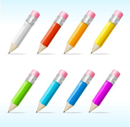 Vector Pencils set rainbow
