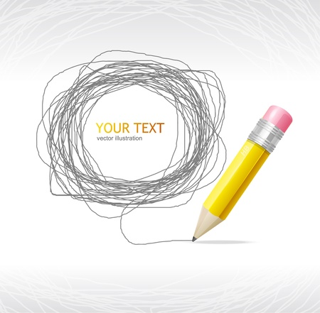 Vector Pencil and text Stock Vector - 17290295