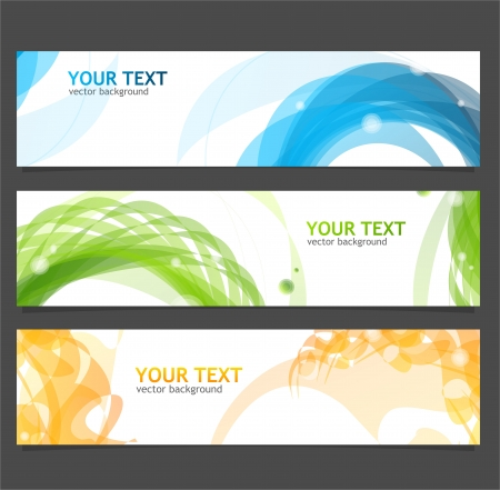 Vector banners for text